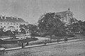Skwer przy Krakowskim Przedmieściu przed budową pomnika Adama Mickiewicza ok. 1890.jpg