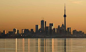 Etobicoke - Toronto skyline taken from Colonel Samuel Smith Park in Etobicoke.
