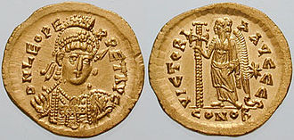 Leo I the Thracian - Gold solidus of Leo I, struck 462–473 AD at Constantinople.