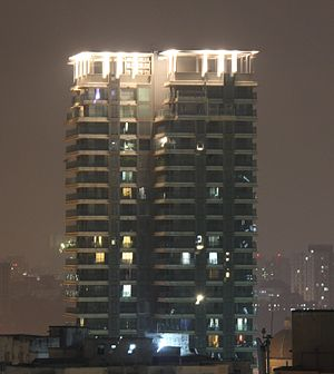 Powai - Solitaire building opposite Powai lake