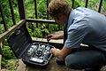 Solomon Water Volunteer Louis Downing testing Honiara's water supply. (10721685636).jpg