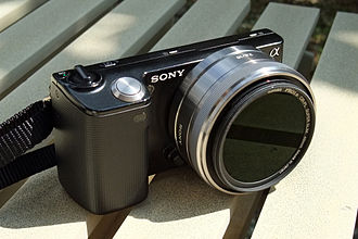 Sony NEX-5 - Sony NEX-5 with an E-mount SEL-16mm f2.8 lens