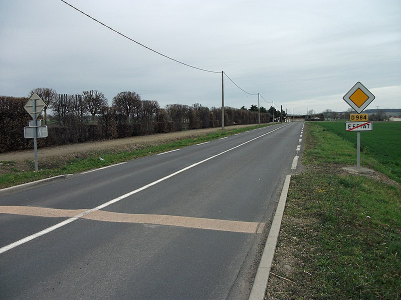 Exit of Effiat by departmental road 984, towards Vichy [10118]