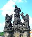Sousoší Madony a Sv. Dominika a Tomáše na Karlově mostě(Aw58).JPG