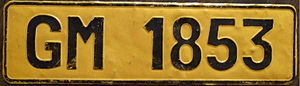 Vehicle registration plates of South Africa - A 1972 license plate from Malaulele, Gazankulu homeland.