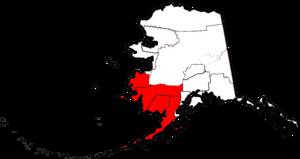 Southwest Alaska - Map highlighting some Census and Governmental units of Southwest Alaska
