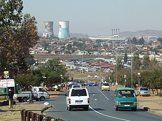 Soweto - Orlando Towers in the Orlando suburb of Soweto