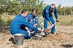 Soyuz MS-05 crew during the tree planting ceremony.jpg