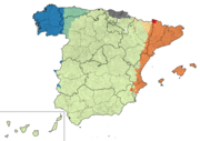 Spain languages map