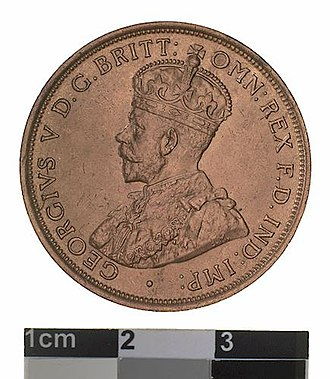 Penny (Australian coin) - Image: Specimen Coin 1 Penny, Australia, 1911 (Obverse)