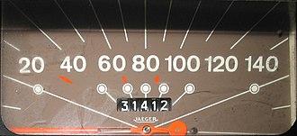 Citroën Acadiane - Citroën Acadiane speedometer