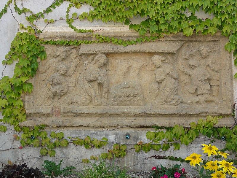 Spincourt (Meuse) relief accès église