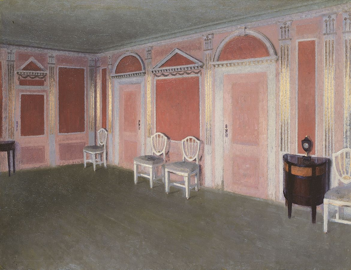 Interior in Louis Seize style. From the artist's home. Rahbeks Allé