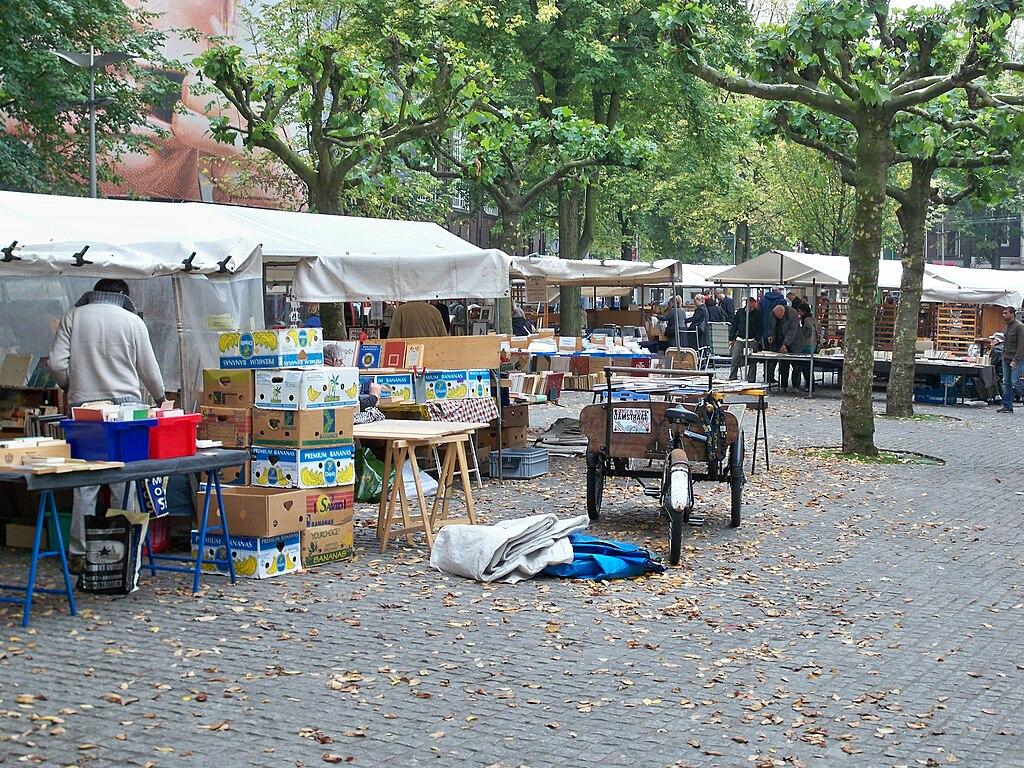 Marché aux livres du Spui à Amsterdam - Photo de Vanellus foto
