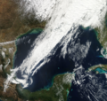 Squall line in Gulf of Mexico 30 January 2013.png