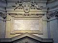 Ss Luca e Martina - controfacciata 1650 epigrafe Barberini Urbano VIII e Francesco 1250597.jpg