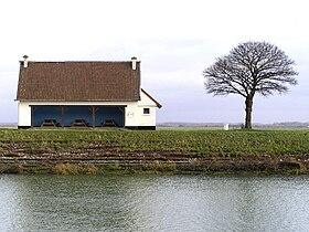 Abri sur la digue à Saint-Valery-sur-Somme