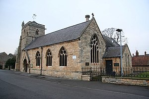 Michael Drury - St. Thomas' church  with Drury's school conversion attached- now Heighington Heritage Centre.