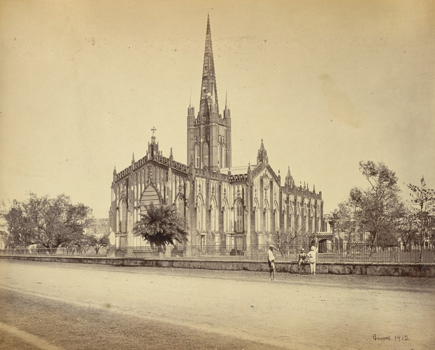 St. Paul's Cathedral - Calcutta (Kolkata) - 1865