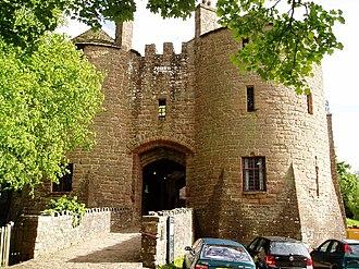 St Briavels Castle - The Edwardian castle gatehouse.