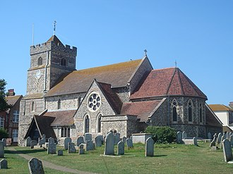 Seaford, East Sussex - St Leonard's Church, in the town centre, has 11th-century origins.