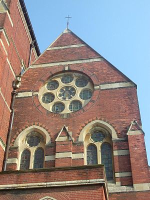 St Michael's Church, Brighton - Windows in the west face of the original church (now the south aisle)