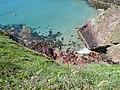 St Non's Bay from Pen y Cyfrwy S of Tydddewi (St David's), Sir Benfro (Pembrokeshire), Cymru (Wales) 17.jpg