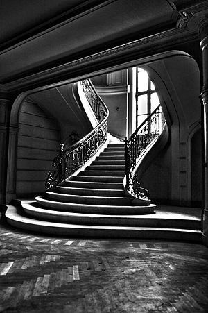 A stairway in a Belgium Castle.