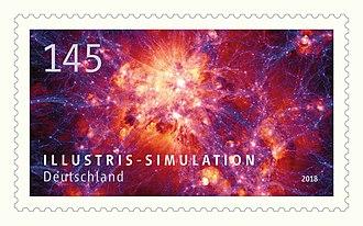 Illustris project - Image: Stamp illustris