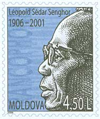 Léopold Sédar Senghor - 2006 Memorial stamp from Moldova
