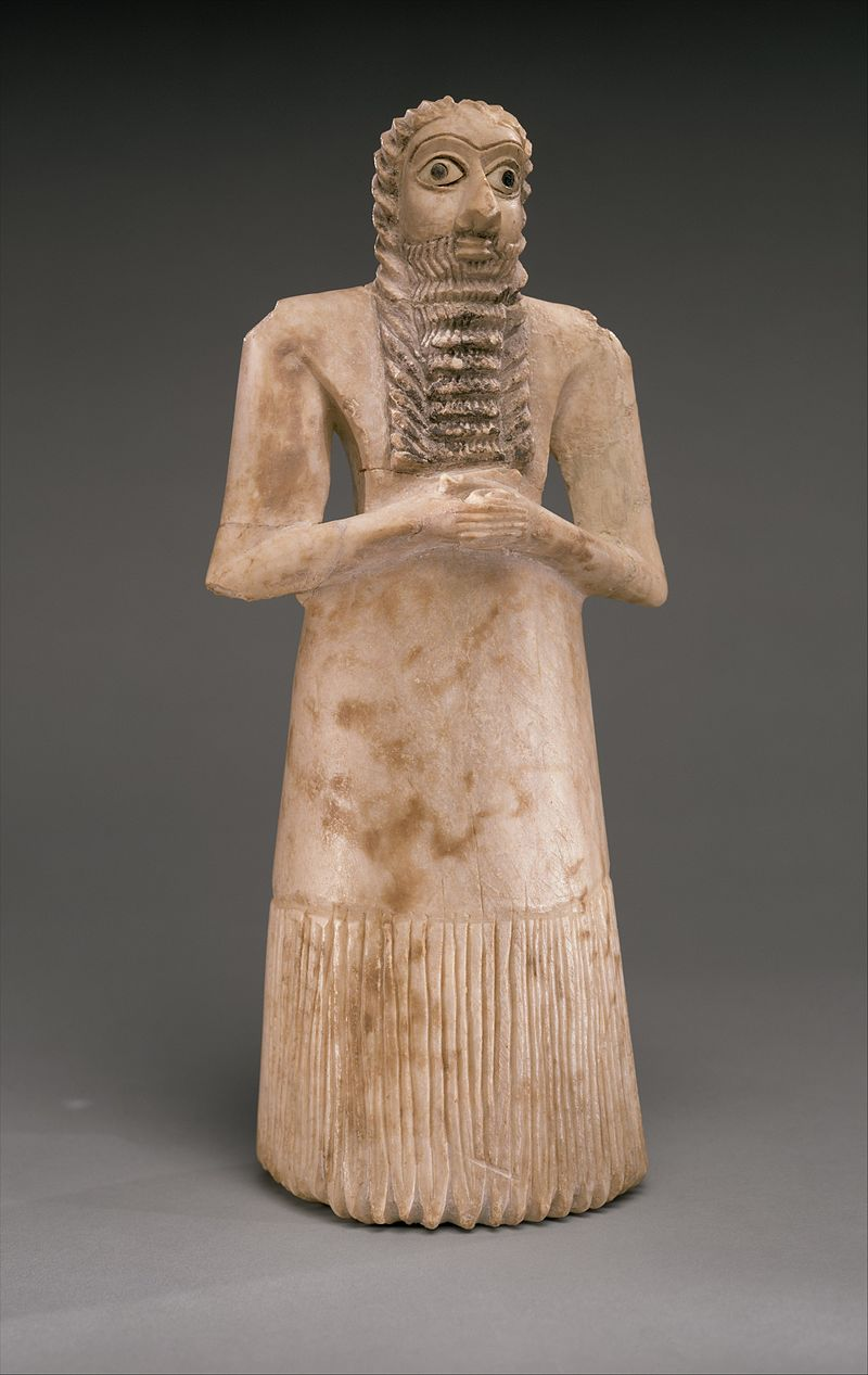 Standing male worshiper, Mesopotamian, 2750-2600 BC(?) 800px-Standing_male_worshiper_MET_DT850