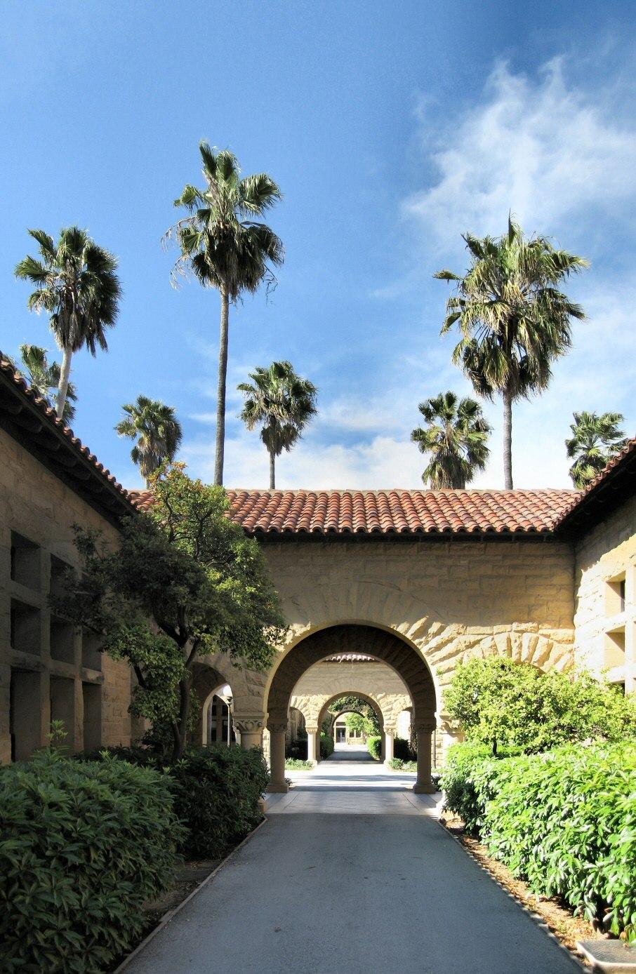 Stanford University Walkway Panorama