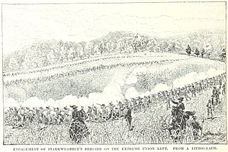 Battle of Perryville - Starkweather's brigade fights in the cornfield