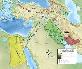 Starożytny Bliski Wschód I poł. II tysiąclecia p.n.e.