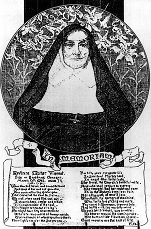 Mother Vincent Whitty - Memorial card for Mother Mary Vincent Whitty