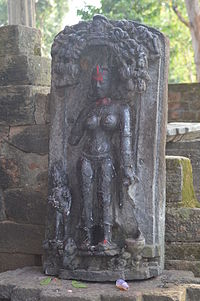 Statue of Ambika at Pakbirra, Purulia district.jpg