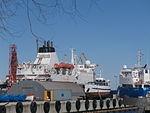 Stefani ashore in Port of Lahesuu Tallinn 2 April 2016.JPG