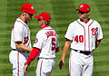 Stephen Strasburg , Davey Johnson, Chien-Ming Wang (8075514844).jpg