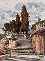 Steps of Church of Santi Domenico e Sisto by Alberto Pisa (1905).jpg