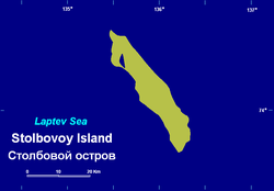 Map of Stolbovoy Island.