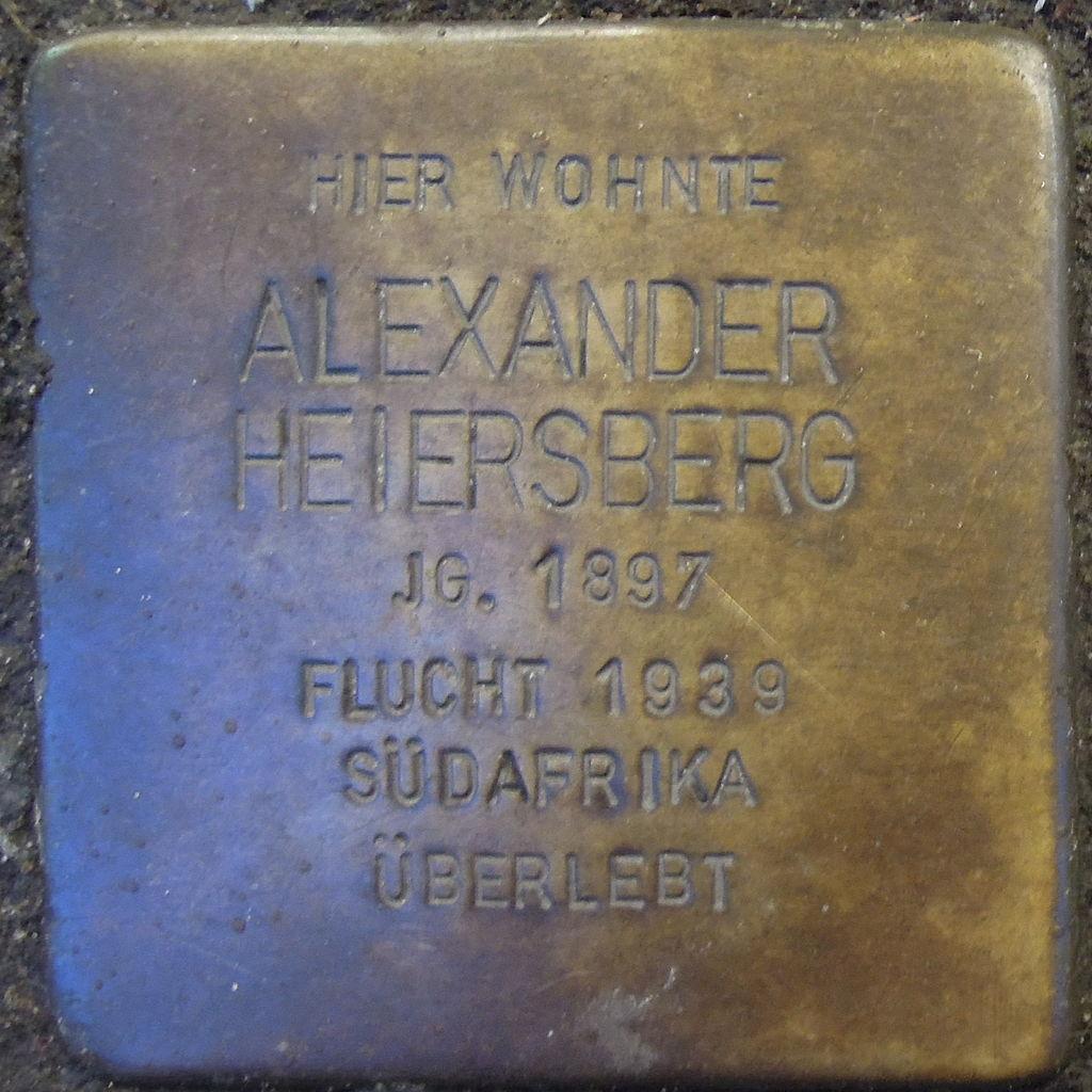 Stolperstein für Alexander Heiersberg