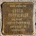 Stolperstein Eulerstr 21 (Gesbr) Eugen Poppelauer.jpg