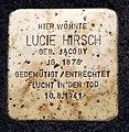 Stolperstein Gervinusstr 24 (Charl) Lucie Hirsch.jpg