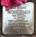Stolperstein Helmstedter Str 10 (Wilmd) Hedwig Simon2.jpg