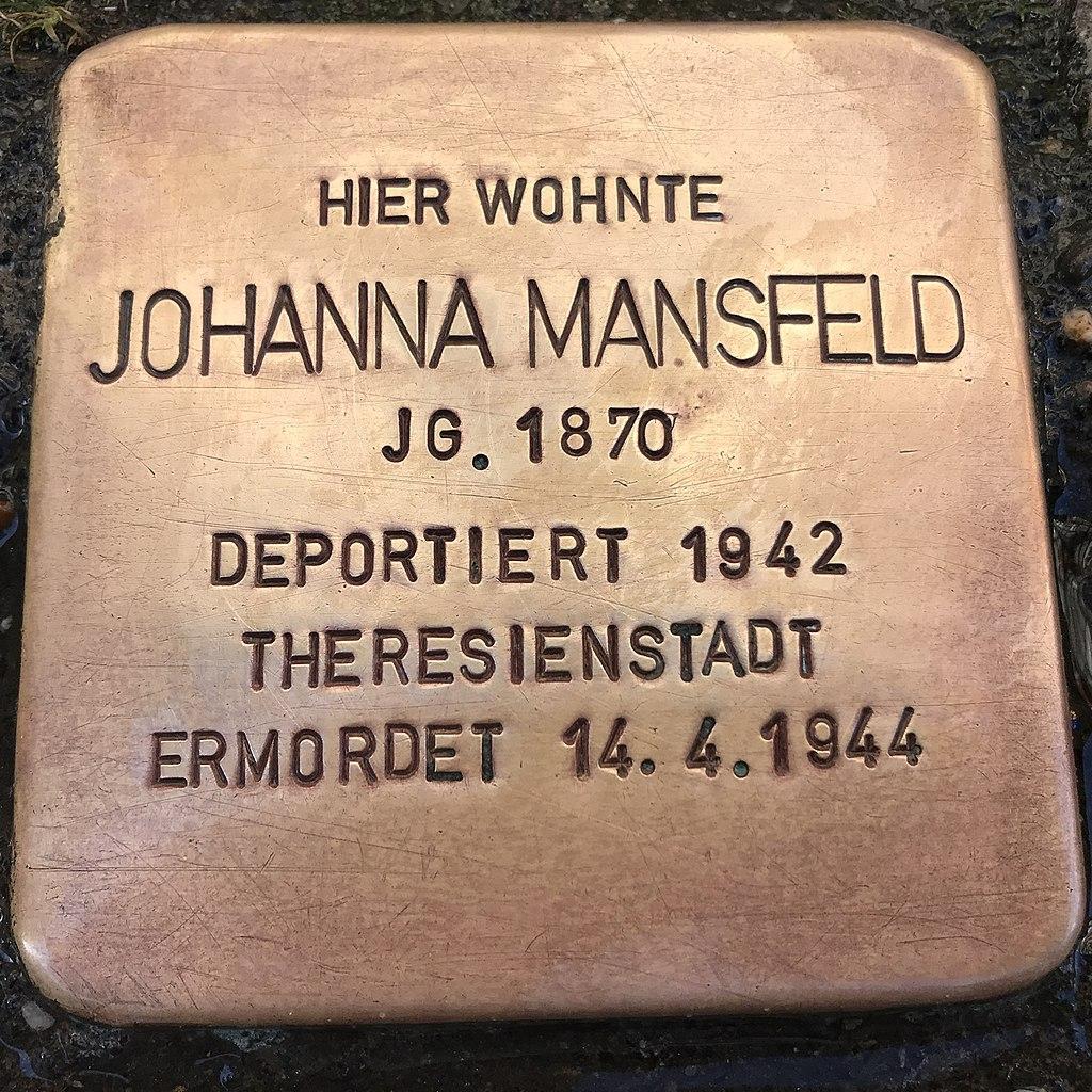Stolperstein Johanna Mansfeld in Lüchow (Wendland).jpg