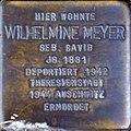 Stolperstein Köln, Wilhelmine Meyer (Brabanter Straße 27).jpg