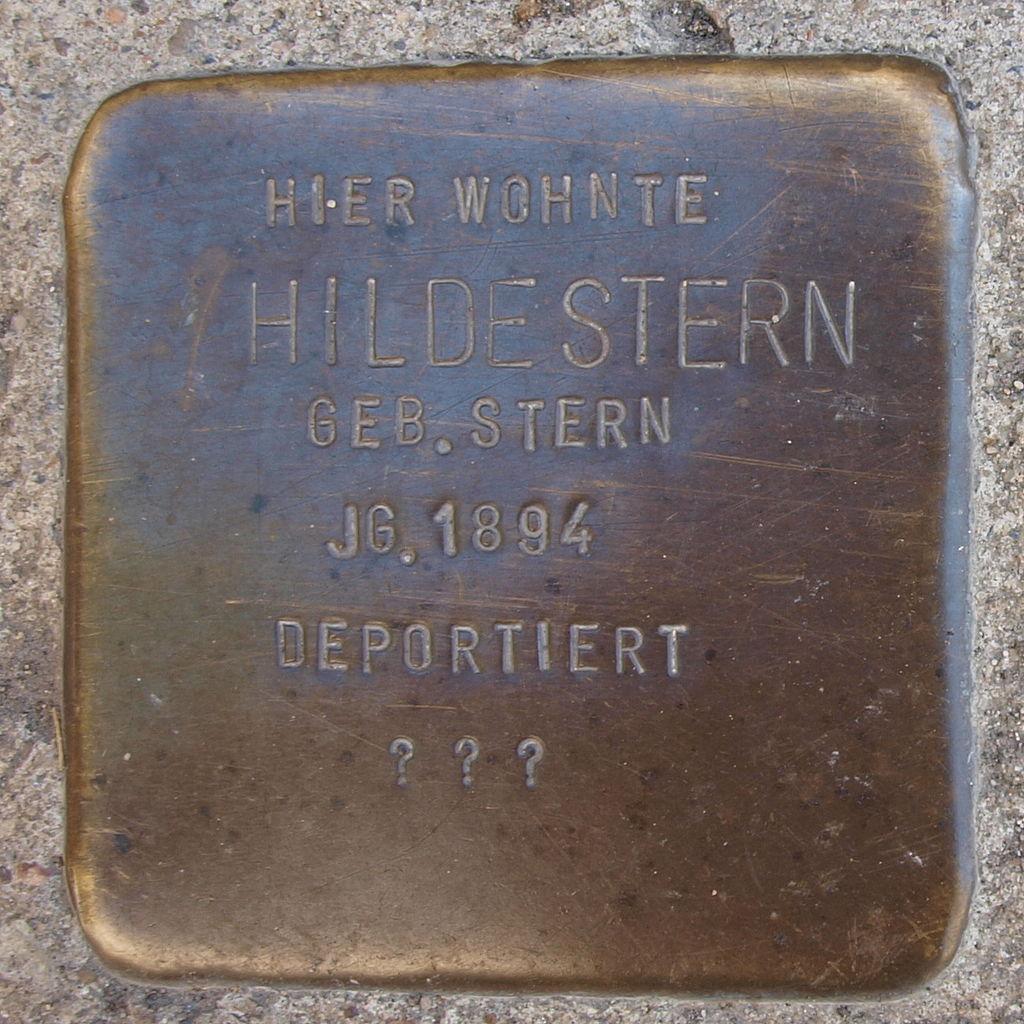 Stolperstein Kitzingen Rosenstraße 3 Hilde Stern