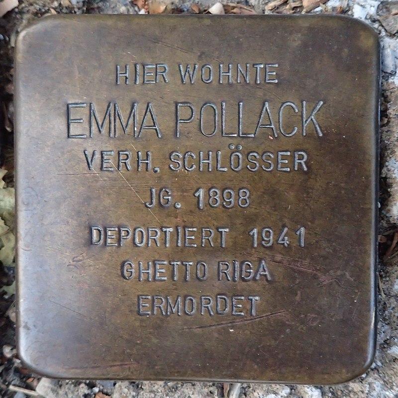Stolperstein für Emma Pollack verh. Schlösser