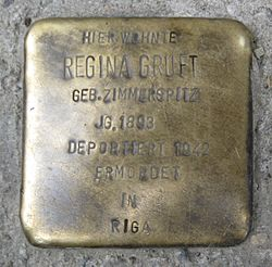 Photo of Regina Gruft brass plaque
