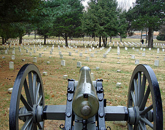Field artillery in the American Civil War - M1857 Napoleon at Stones River battlefield cemetery.